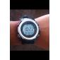 Мужская Multi-функциональный стиль резиновые автоматические цифровые наручные часы (черный)