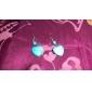 Women's Drop Earrings Love Heart Gem Turquoise Heart Jewelry For Party Daily