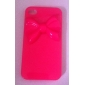 Stereo Bowknot Pattern Hard Case for iPhone 4/4S (Pink)