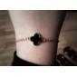 Trèfle chanceux de Black Metal Bracelet