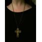 mode rétro croix long collier