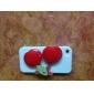 Cereja de volta caso Espelho ornamento para iPhone 4/4S (cores sortidas)