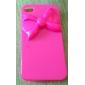 iPhone 4/4S를위한 입체 음향 Bowknot 본 하드 케이스 (핑크)