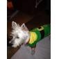 Gato Cachorro Fantasias Camiseta Roupas para Cães Respirável Fofo Fantasias Color Block Vermelho Verde Ocasiões Especiais Para animais de