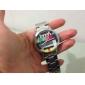 Unisex TV Pattern Silver Steel Quartz Analog Wrist Watch Cool Watch Unique Watch