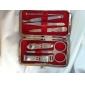 6pcs chèque emballage coupe-ongles en acier inoxydable ciseau kit de pédicure manucure