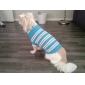 Chat Chien Pull Vêtements pour Chien Décontracté / Quotidien Garder au chaud Rayure Bleu