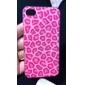Rose Leopard Print Pattern Transparente Hard Case Quadro para o iPhone 4/4S