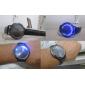 터치 스크린 창조적 인 파란색과 흰색이 깜박 팔찌 시계를 이끌고