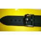 Unisex Rubber Silicon Watch Band 20MM (Black)
