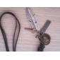 lureme®unisex plume pendentif croix en cuir Collier réglable