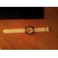 Silicone homens analógico relógio de pulso de quartzo (cores sortidas)