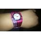 Women's Plaid Style Alloy Analog Quartz Bracelet Watch (Multi-Colored)