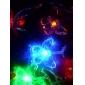 6m 3w 32 LED 다채로운 빛 나비 모양의 문자열 요정 램프 (110/220v)