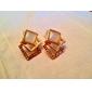 Opals Cube Shape Alloy Earrings
