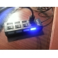 4 Ports USB 2.0 Hi-speed HUB with Individual Power Switches and LEDs