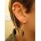 Feuille de style Punk glands modèle Boucles d'oreilles (Gold)