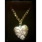 Hollow Heart Silver Plating Necklace