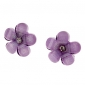 Stud Earrings Pearl Ceramic Flower Daisy Pink Jewelry Daily