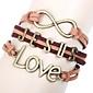 Eruner®Jesus Love Brown Leather Bracelet