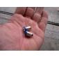 levou-4 BA9S 5050 SMD lâmpada azul para o carro (DC 12V, conjunto de 2 peças)