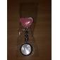 Mulheres Relógio de Moda Porta-Chaves Relógio lapela Assista Quartzo Banda Prata