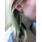 Boucles d'oreille goutte Alliage Mode Ailes / Plume Plume Noir Bijoux Soirée Quotidien