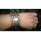 Жен. Модные часы Часы-браслет Кварцевый сплав Группа Винтаж Цветы Кольцеобразный Элегантные часы Бронза