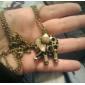 cobre antigo colar de elefante oca-out