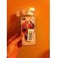 Цветы Награжден Череп Pattern Цветной рисунок черная рамка PC Жесткий чехол для iPhone 4/4S