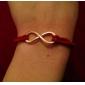 Dame Charm-armbånd Læder Armbånd Venskab Statement-smykker Justérbar Mode Personaliseret kostume smykker Læder Legering Uendelighed