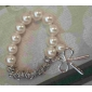 Women's Charm Bracelet Pearl Alloy Bowknot Jewelry Casual