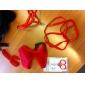 Cães Arreios / Trelas / Coleira Com Deslize Pegada Vermelho / Azul / Rosa Téxtil