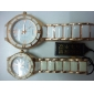 Pair of Alloy Analog Quartz Casual Couple Watches (Gold-White) Cool Watches Unique Watches