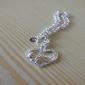 Women's Silver Plated Heart Shape Charm Bracelet