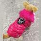 Коты Собаки Плащи Жилет Красный Оранжевый Желтый Синий Черный Розоватый Одежда для собак Зима Весна/осень ОднотонныйЗащита от ветра