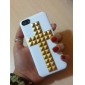 Special Design Golden Rivets Cross Pattern Hard Case with Nail Adhesive for iPhone 5/5S (Assorted Colors)