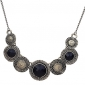 European Style Vintage Carved Round Necklace(Assorted Color)