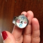 Женские Модные часы Японский кварц Кварцевый Группа Цветы Серебристый металл