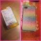 Colorful Shimmering cas de dos de Poudre pour iPhone 4/4S