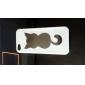 Мягкий чехол для iPhone 5 с прощарчынм узором кошки (разные цвета)