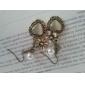 Vintage Cat'S Eye Flowers Peach Heart Pearl Earrings