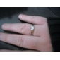 Men's Crysal High Quality Silver Plated Ring