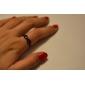 Кольца Повседневные Бижутерия Сплав Женский Классические кольца 1шт,8 Золотой Черный Серебряный