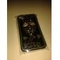 Жесткий чехол для iPhone 4/4S с узором совы и надписью