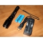 LED Flashlights / Handheld Flashlights LED 5 Mode 1600 Lumens Adjustable Focus Cree XM-L T6 18650 Others , Black Aluminum alloy