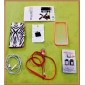 Capinha Para Transparente Capa Traseira Côr Sólida Rígida PC para iPhone SE/5s iPhone 5