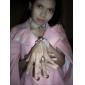 Pink Gem Flower Pattern Pearl White Lace Bracelet