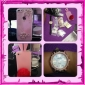 Peach Pink Silicone Soft Case with Rabbit Ear and Fluffy Tail Stand for iPhone 4/4S