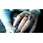 Borboleta do anel de diamante em forma de metal ajustável (Prata)